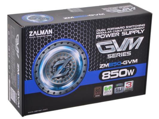 БП ATX 850 Вт Zalman ZM850-GVM бп atx 600 вт zalman zm600 gvm