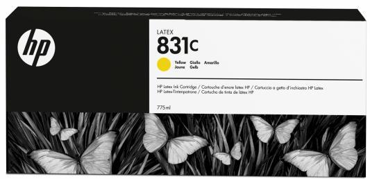 чернильный картридж hp 831c black cz694a Картридж HP CZ697A №831C желтый 775мл