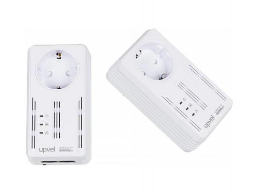 Комплект Powerline адаптеров Upvel UA-252PSK HomePlug AV 500 Мбит/с с поддержкой IP-TV 2LAN порта