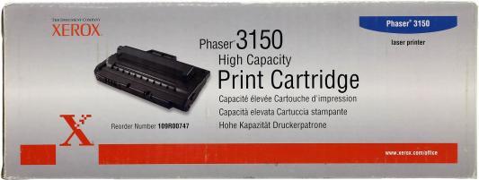 Картридж Xerox 109R00747 для Phaser 3150 черный 5000стр картридж xerox 108r00909 для phaser 3140 2500стр