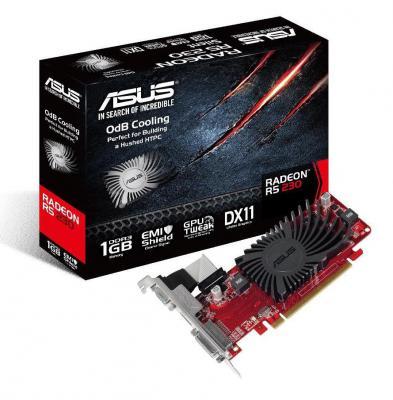 Видеокарта 1024Mb ASUS R5 230 SILENT 1GD3 L PCI-E GDDR3 128bit 2xDVI HDMI HDCP 90YV06B0-M0NA00 Retail