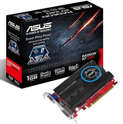Бренд: ASUS, Серия процессора: Radeon R7, Графический процессор: Radeon R7 240, Объем видеопамяти: 1024, Тип подключения: PCI-E