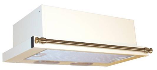 Вытяжка встраиваемая Elikor Интегра 60П-400-В2Л крем/рейлинг бронза