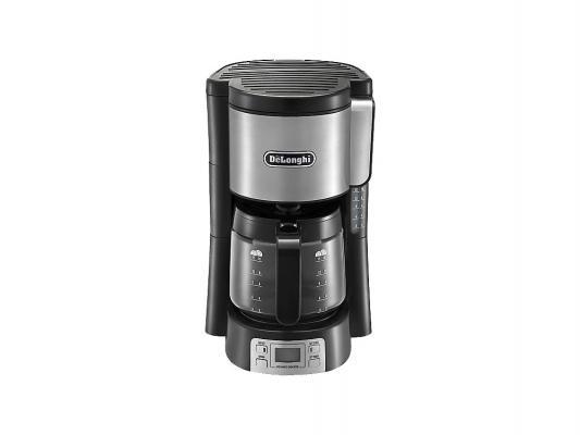Кофеварка DeLonghi ICM 15250 черно-серебристый