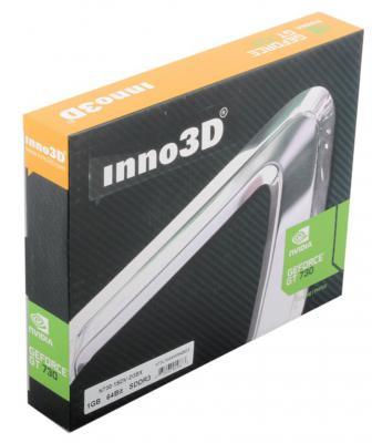Видеокарта 1024Mb Inno3D GeForce GT730 c CUDA PCI-E 64bit GDDR3 DVI HDMI HDCP N730-1SDV-D3BX Retail