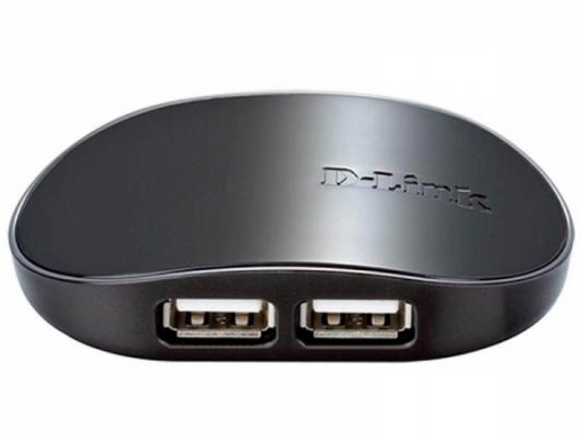 Концентратор USB 2.0 D-Link DUB-1040 4 x USB 2.0 черный