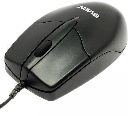 Мышь проводная Sven CS-302 чёрный USB мышь sven cs 304 черный usb