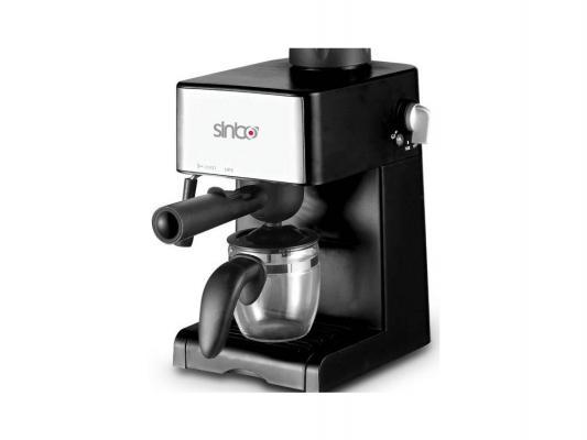 Кофеварка Sinbo SCM 2925 800Вт 0.24л серебристый