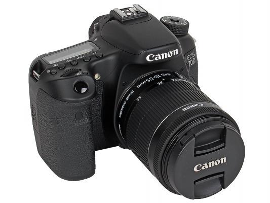Зеркальная фотокамера Canon EOS 70D Kit 18-55 IS STM 20Mp черный 8469B011