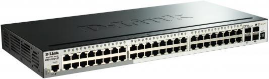Коммутатор D-LINK DGS-1510-52/A1A управляемый 48 портов 10/100/1000Mbps 2xSFP 2xSFP+ коммутатор d link dgs 1510 28p a1a dgs 1510 28p a1a