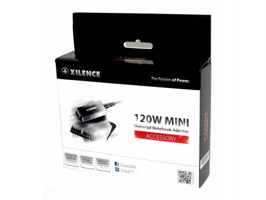 Блок питания для ноутбука Xilence SPS-XP-LP120.XM012 120Вт 11 переходников блок питания для ноутбука hama h 12120 универсальный 90вт 8 переходников черный