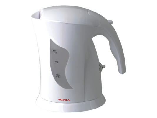 Чайник Supra KES-1201 900 Вт белый 1.2 л пластик телефон supra stl 111 белый