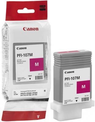 Картридж Canon PFI-107 M для iPF680/685/780/785 130мл пурпурный 6707B001 картридж струйный canon pfi 107 m пурпурный для canon ip f680 685 780 785