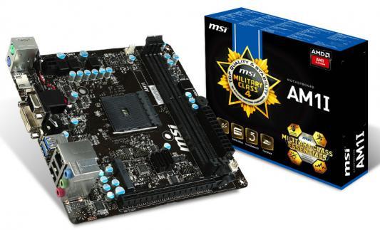 Мат. плата для ПК MSI AM1I Socket AM1 AMD AM1 2xDDR3 1xPCI-E 16x 2xSATAIII mini-ITX Retail