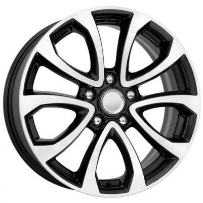 Диск K&K КС623 7x17 5x114 ET47.0 Алмаз черный колесные диски yamato nomura v 2 y7223 7x17 5x114 3 et50 d67 1 gmbw ep