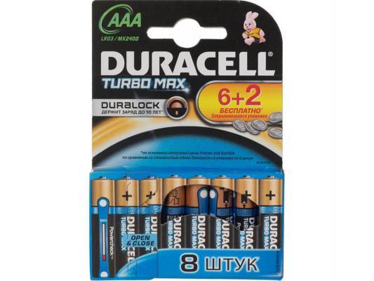 Батарейки Duracell Turbo Max LR03-8BL AAA 8 шт