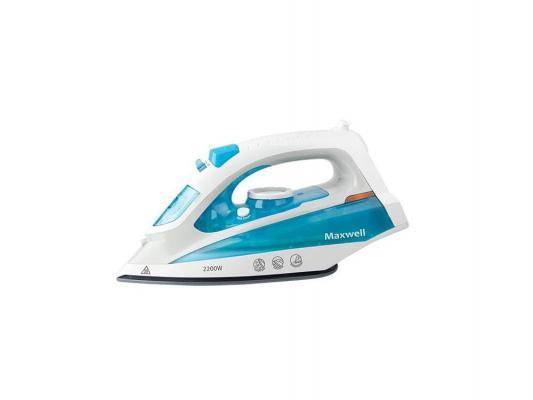 Утюг Maxwell MW-3055B 2200Вт бело-голубой фен maxwell 2026 mw вк 2200вт чёрный