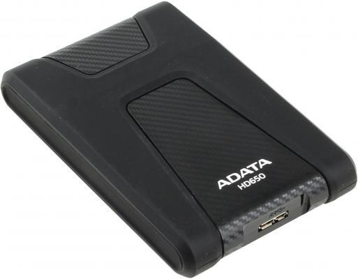 """Внешний жесткий диск 2.5"""" USB3.0 2Tb A-Data AHD650-2TU3-CBK черный"""