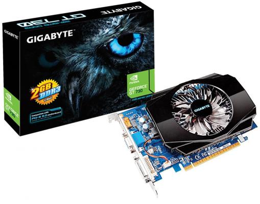 Видеокарта 2048Mb Gigabyte GT730 PCI-E GDDR3 128bit VGA HDMI DVI HDCP GV-N730-2GI Retail