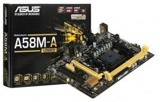Материнская плата для ПК ASUS A58M-A/USB3 Socket FM2+ AMD A58 2xDDR3 1xPCI-E 16x 1xPCI 1xPCI-E 1x 6xSATA II mATX Retail