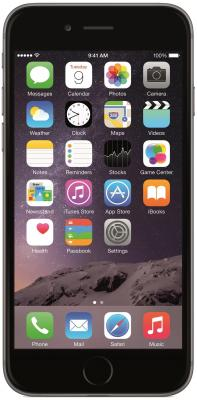 "Смартфон Apple iPhone 6 серый 4.7"" 16 Гб NFC LTE Wi-Fi GPS MG472RU/A"