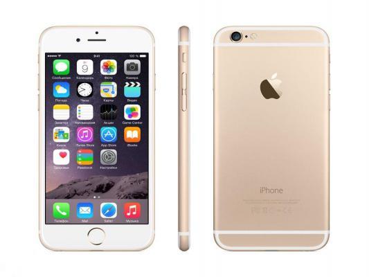 """Смартфон Apple iPhone 6 золотистый 4.7"""" 64 Гб NFC LTE GPS Wi-Fi MG4J2RU/A"""