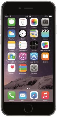 "Смартфон Apple iPhone 6 серый 4.7"" 64 Гб GPS Wi-Fi NFC LTE MG4F2RU/A"