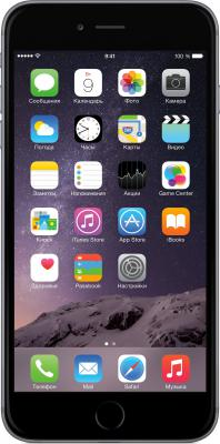 "Смартфон Apple iPhone 6 Plus серый 5.5"" 16 Гб NFC LTE Wi-Fi GPS MGA82RU/A"