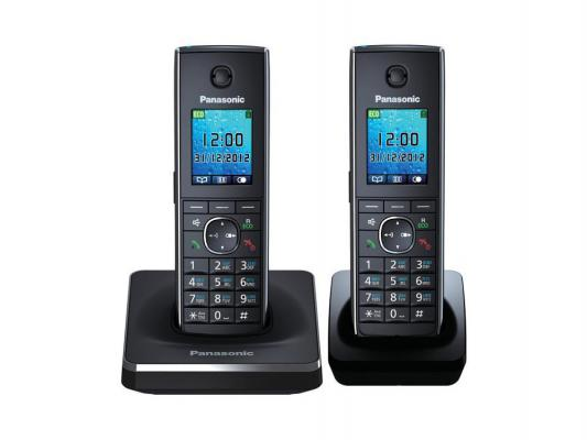 Радиотелефон DECT Panasonic KX-TG8552RUВ черный радиотелефон dect panasonic kx tgh220rub черный