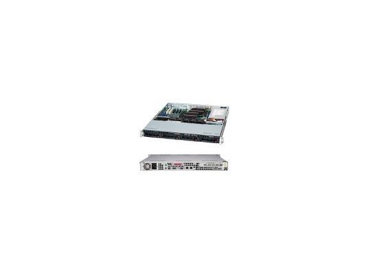 Серверный корпус 1U Supermicro CSE-813MTQ-600CB 600 Вт чёрный