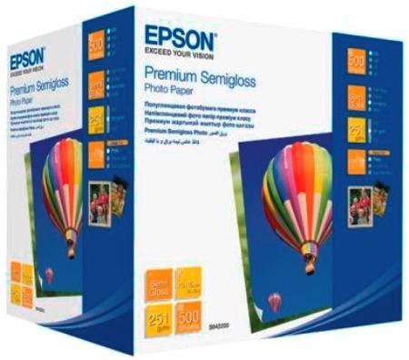 Фотобумага Epson 10x15см 251г/кв.м полуглянцевая 500л C13S042200
