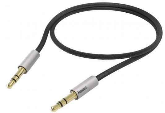 Кабель Hama H-104542 AluLine 3.5 мм Jack (m-m) для iPod Nano/Touch/iPad позолоченные контакты 0.5 м серебристый