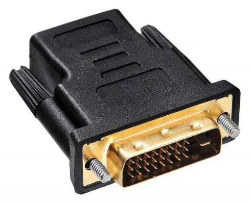 Переходник Buro HDMI-DVI-D позолоченные контакты черный переходник ningbo hdmi m dvi d f позолоченные контакты черный cab nin hdmi m dvi d f