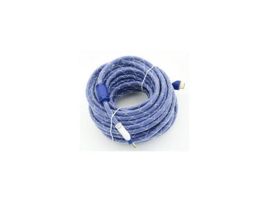 Кабель HDMI 5.0м Gembird Ver.1.4 Blue/white jack ферритовые кольца позолоченные контакты