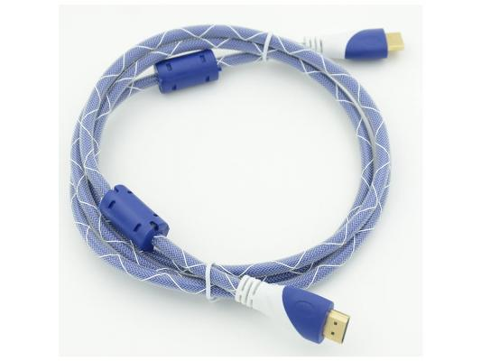 Кабель HDMI 1.8м Gembird Ver.1.4 Blue/white jack ферритовые кольца позолоченные контакты 794315 кабель hdmi 15 0м gembird ver 1 4 blue white jack ферритовые кольца позолоченные контакты 794320