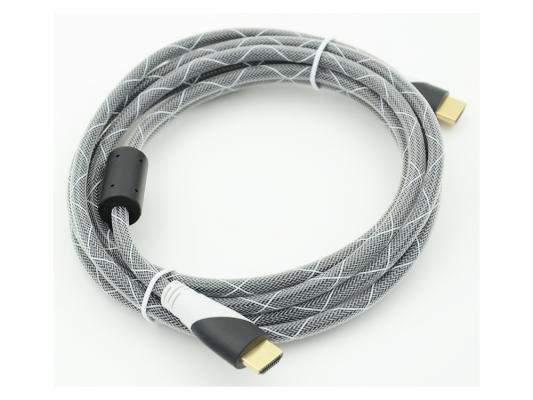 Кабель HDMI 3.0м Gembird Ver.1.4 Black jack ферритовые кольца позолоченные контакты 794333