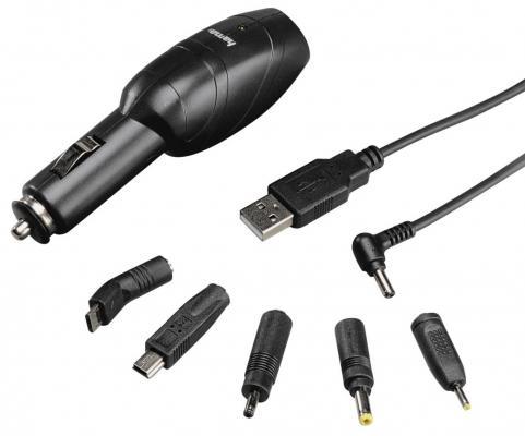 Зарядное устройство Hama H-86046 для навигаторов универсальное 6 штекеров черный hama h 57151
