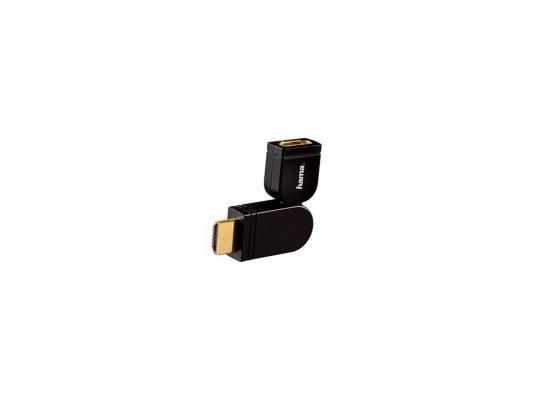 Переходник HDMI(m)-HDMI(f) HAMA позолоченные контакты черный H-83088