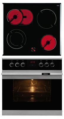 Комплект встраиваемой техники Hansa BCCI 62096015 черно-серебристый
