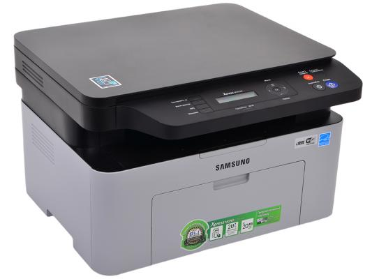 МФУ Samsung SL-M2070W ч/б A4 20ppm 1200x1200dpi Wi-Fi USB мфу samsung sl m2070w отзывы
