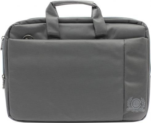 "все цены на Сумка для ноутбука 15.6"" Continent CC-215 GR полиэстер серый"