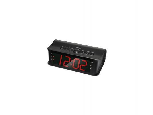 Часы с радиоприемником Rolsen CR-180 черный