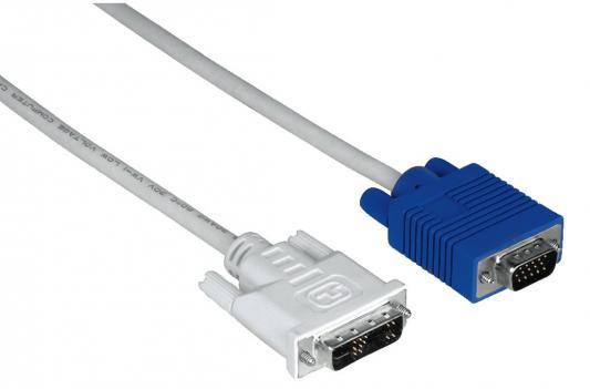 Кабель Hama DVI-VGA 1.8м серый H-45075