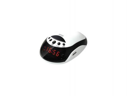 Часы с радиоприемником Rolsen CR-160W белый