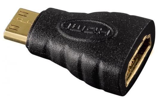 Переходник HDMI-mini HDMI Hama H-39861 позолоченные контакты черный цена и фото