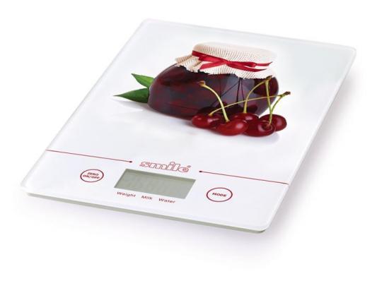 Весы кухонные Smile KSE 3219 белый рисунок