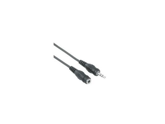 Кабель удлинительный 2.5м Hama 3.5 Jack (M) - 3.5 Jack (F) черный H-48910 кабель 3 5 мм jack hama audio extension cable 122323