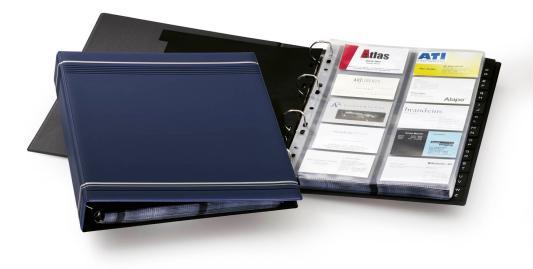 Визитница Durable 238807 400 шт синий comix durable 50 page 12 stapler w staples blue 3 pcs