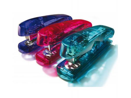 Степлер Rapesco R6ST26PE Puffa See-Thru до 30 листов скобы 24/6 прозрачный фиолетовый