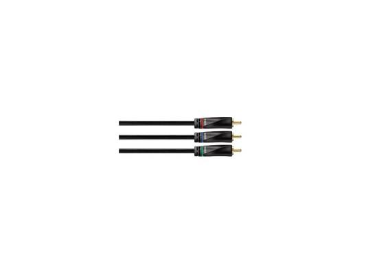 Кабель соединительный 2.0м Hama Avinity 3xRCA(M)-3xRCA(M) позолоченные контакты черный H-107479